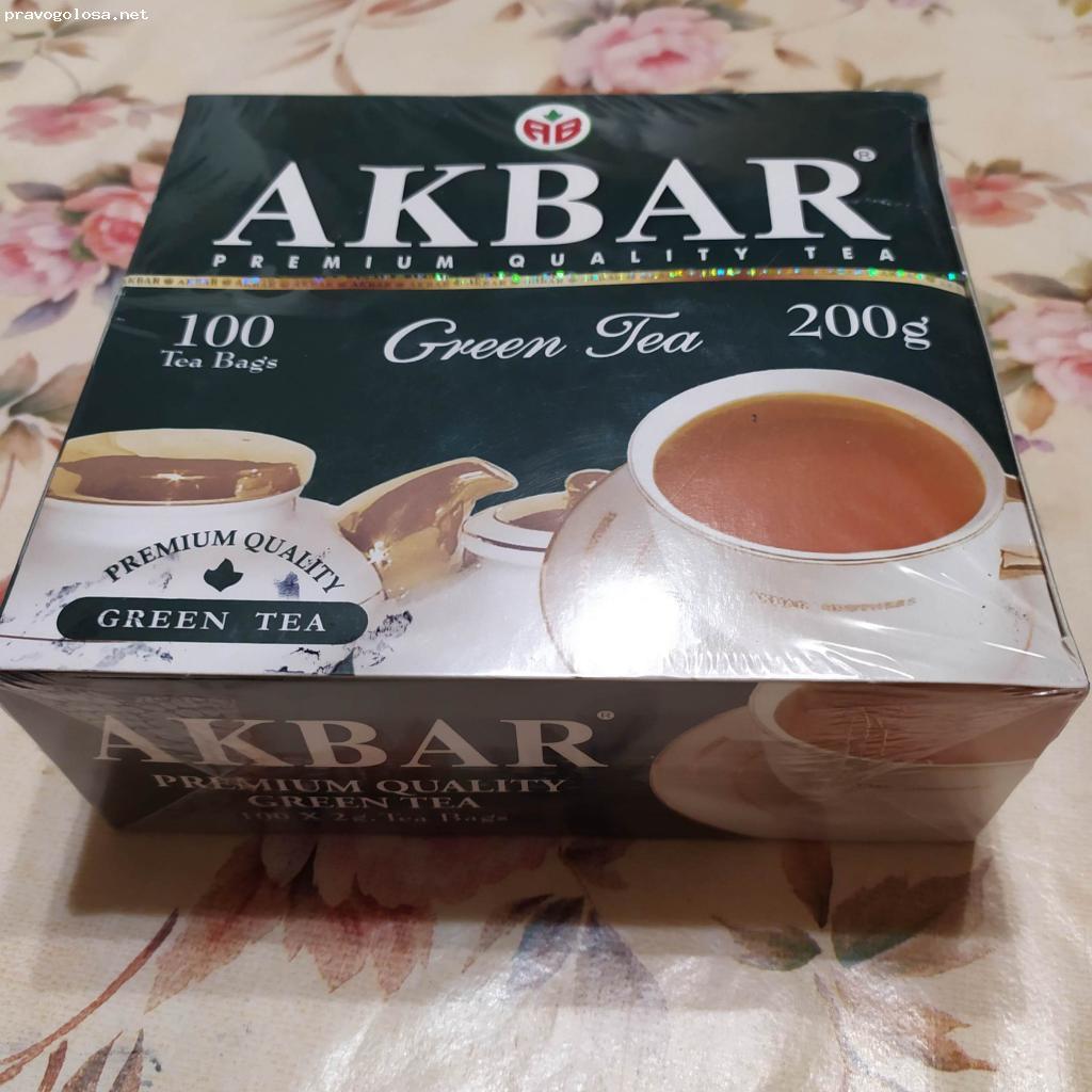 Отзыв на Чай Akbar Зеленый Китайский 100 пак