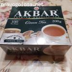 Чай Akbar Зеленый Китайский 100 пак отзывы