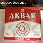 """Черный чай Акбар """"Классическая серия"""" 100 пак отзывы"""