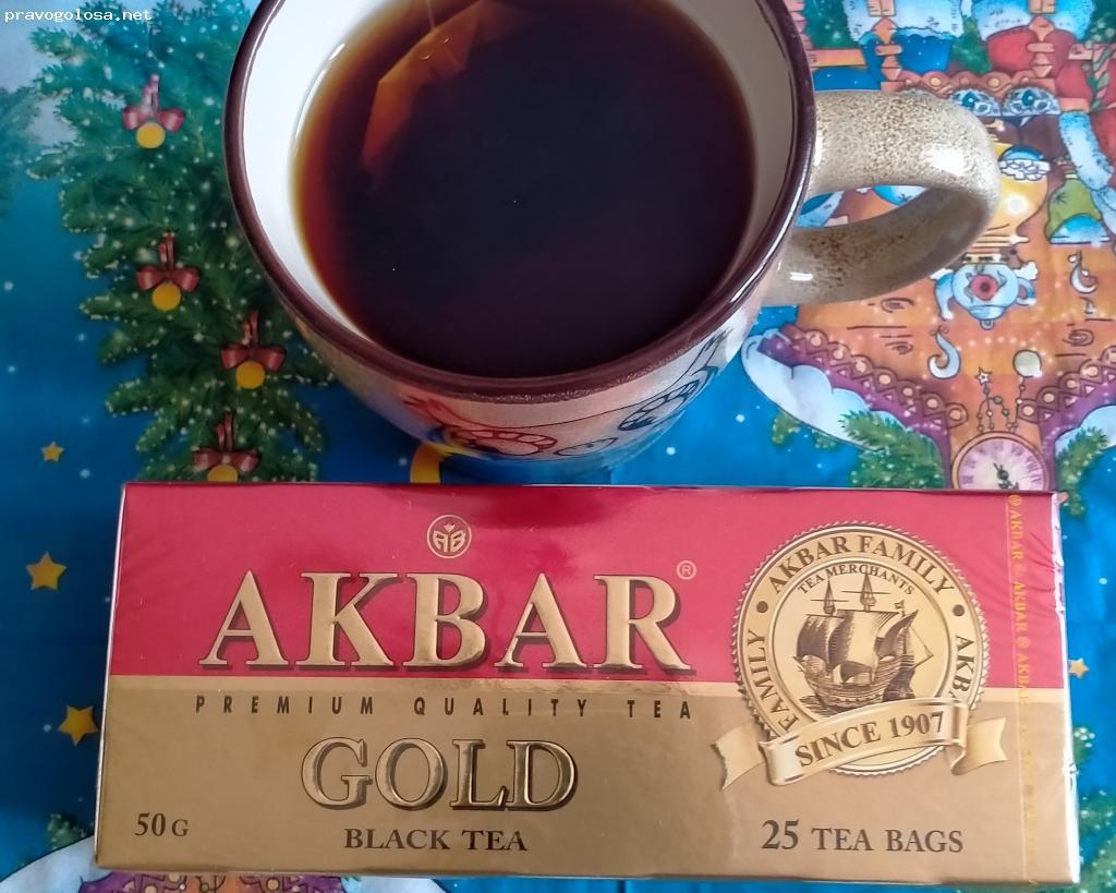 Отзыв на Чай Akbar Gold (красно-золотой)черный в пакетиках