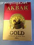 Черный чай Akbar Gold Красно-Золотой среднелистовой 250 г отзывы