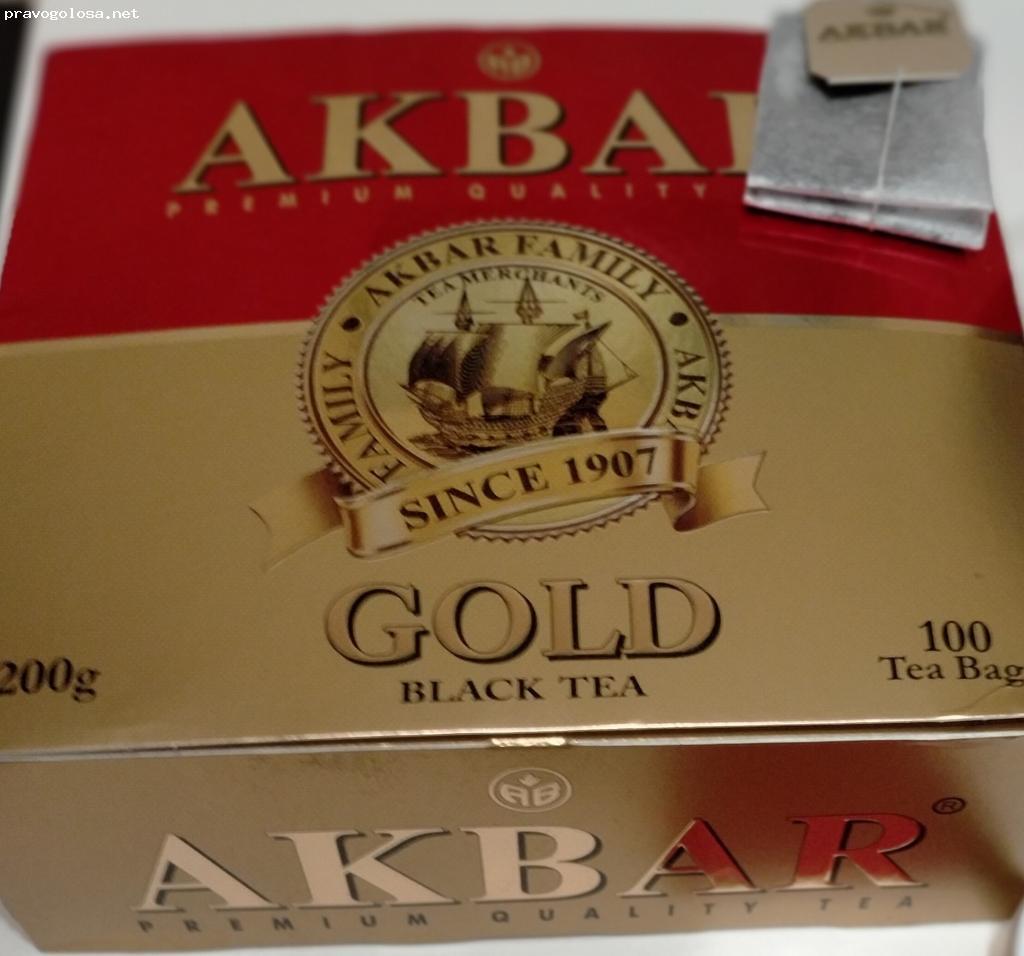 Отзыв на чай Akbar Gold Красно-золотой серии