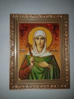 Икона из янтаря Святая Антонина Никейская
