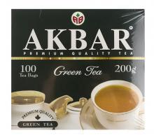 Чай Akbar Зеленый Китайский 100 пак