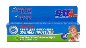 Крем для зубных протезов Мостаден 911 Ваша служба спасения  экстра сильной фиксации