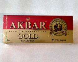 Чай Akbar Gold (красно-золотой)черный в пакетиках